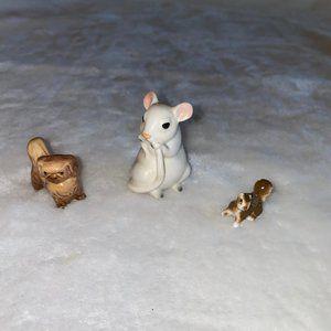 Vintage china pekingese, mouse bug, house squirrel